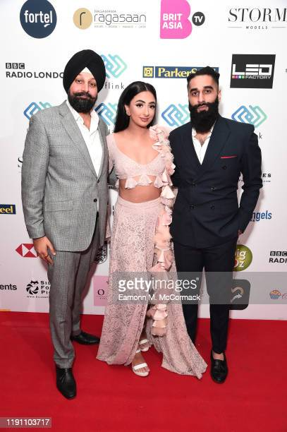 Tony Shergill Karay and guest attend the Brit Asia TV Music Awards 2019 at SSE Arena Wembley on November 30 2019 in London England