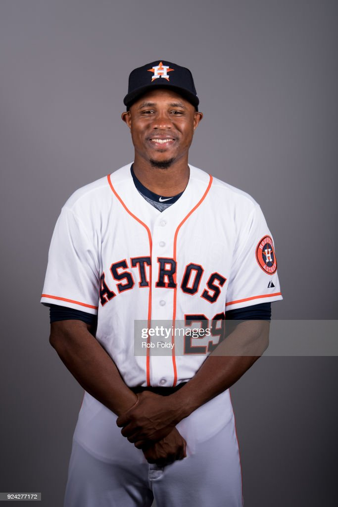 Tony Sipp #29 of the Houston Astros poses during Photo Day on Wednesday, February 21, 2018 at the Ballpark of the Palm Beaches in West Palm Beach, Florida.