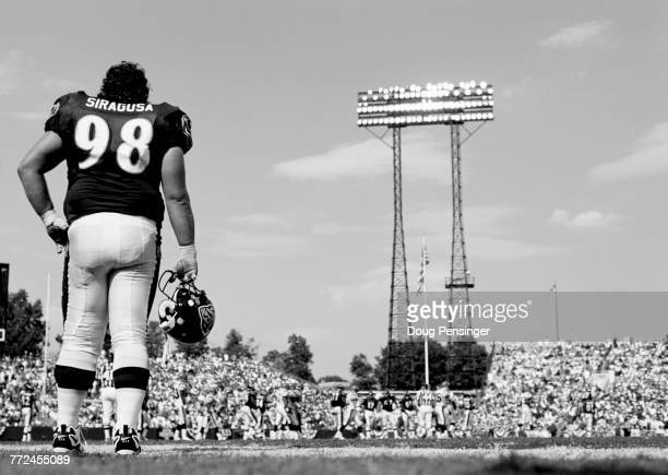 Tony Siragusa Nose Tackle for the Baltimore Ravens during the American Football Conference Central game against the Cincinnati Bengals on 7 September...