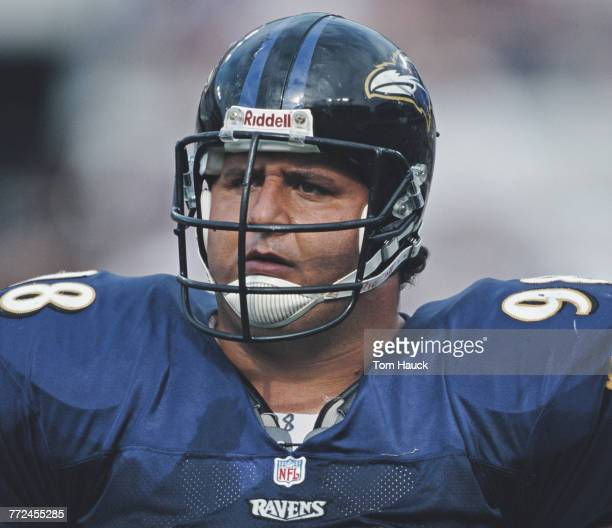 Tony Siragusa Nose Tackle for the Baltimore Ravens during the American Football Conference Central game against the Pittsburgh Steelers on 19...
