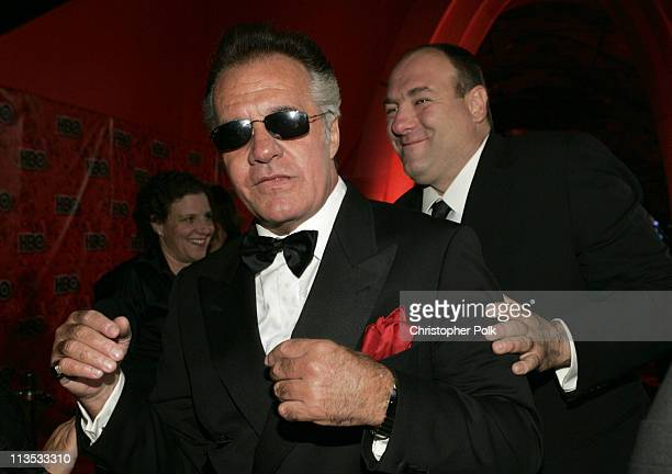 Tony Sirico and James Gandolfini during The 56th Annual Primetime Emmy Awards HBO After Party in Beverly Hills California United States
