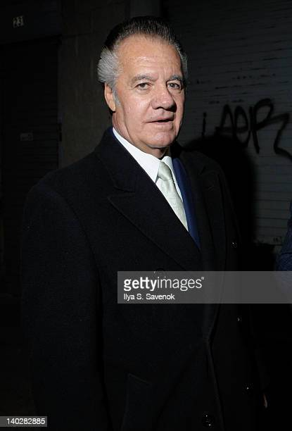 Tony Sirico attends Chuck Zito's birthday party during Jaguars 3 opening night on March 1 2012 in the Brooklyn borough of New York City