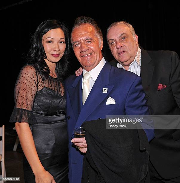 Tony Sirico Deborah Gandolfini and Vince Curatola attends The 7th Annual New Jersey Hall Of Fame Induction Ceremony on November 13 2014 in Asbury...