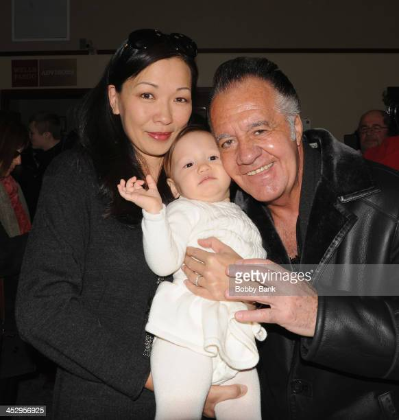 Tony Sirico Deborah Lin and Liliana Ruth Gandolfini attends the James Gandolfini street naming ceremony on December 1 2013 in Park Ridge New Jersey