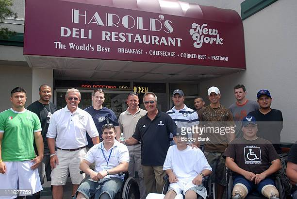 Tony Sirico of the Sopranos and Flip Mullen of The Wounded Warrior Project and Soldiers attend the Wounded Warrior Soldiers Project luncheon at...