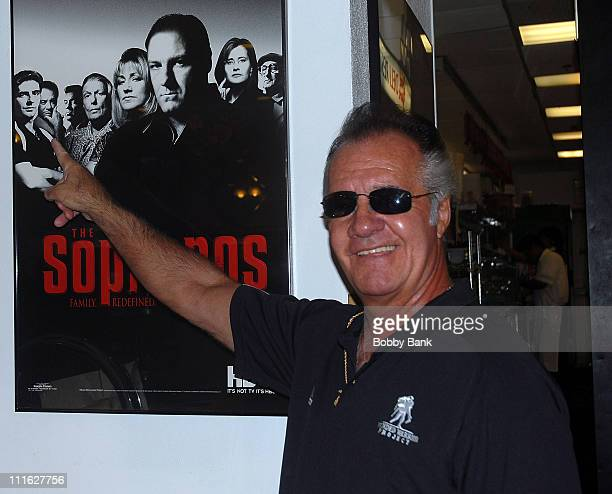 Tony Sirico of the Sopranos attends the Wounded Warrior Soldiers Project luncheon at Harold's Deli on July 10 2008 in Edison New Jersey