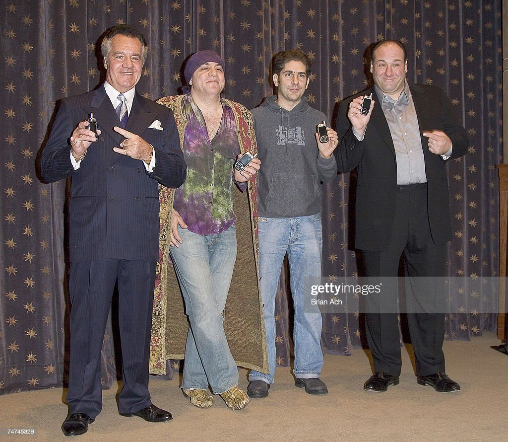 Tony Sirico, Steven Van Zandt, Michael Imperioli and James Gandolfini at the 1100 6th ave in New York, New York