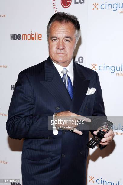 Tony Sirico with the Cingular LGCU 500 phone during Cingular and LG Host Preview Party for HBO Mobile and the New Cingular LGCU 500 Cell Phone...