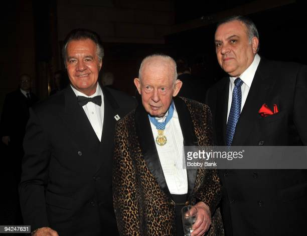 Tony SiricoCol Bernard F Fisher and Vincent Curatola attends the USO 48th annual Armed Forces Gala Gold Medal dinner at Cipriani 42nd Street on...