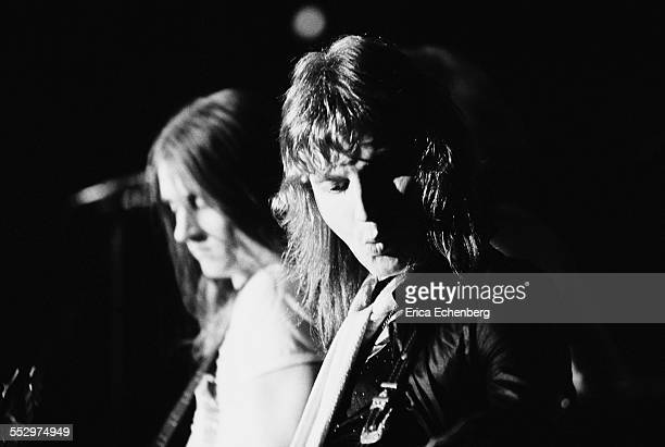 Tony Smith, Paul Chapman of Lone Star perform on stage, St Albans, United Kingdom, December 1976.