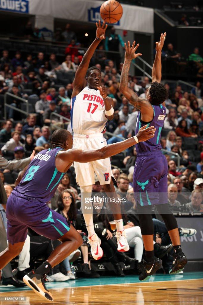 Detroit Pistons v Charlotte Hornets : News Photo