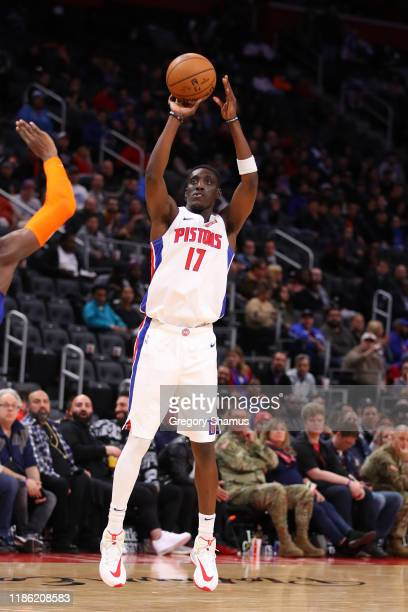 Tony Snell of the Detroit Pistons plays against theNew York Knicks at Little Caesars Arena on November 06 2019 in Detroit Michigan NOTE TO USER User...