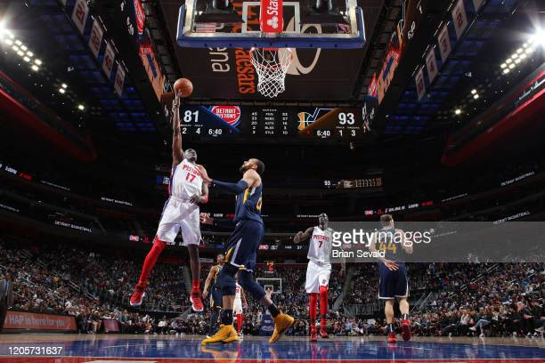 Tony Snell of the Detroit Pistons shoots the ball against the Utah Jazz on March 7 2020 at Little Caesars Arena in Detroit Michigan NOTE TO USER User...