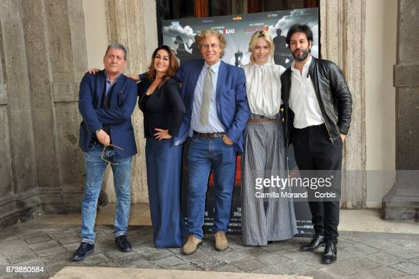 Tony Sperandero Barbara Bacci Massimo Scaglione Laura Lena Forgia and Matteo Branciamore attend a photocall for 'Il Mondo Di Mezzo' on April 27 2017...