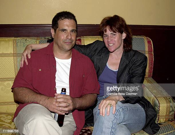 Tony Spiridakis and Ally Sheedy during Party for the Movie Noise at Plaid in New York City at Plaid in New York City New York United States