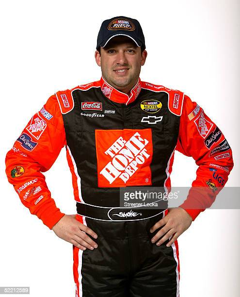 Tony Stewart driver of the Mr Clean Chevrolet NASCAR Busch Series poses at the NASCAR Nextel Cup Daytona 500 on February 17 2005 at the Daytona...