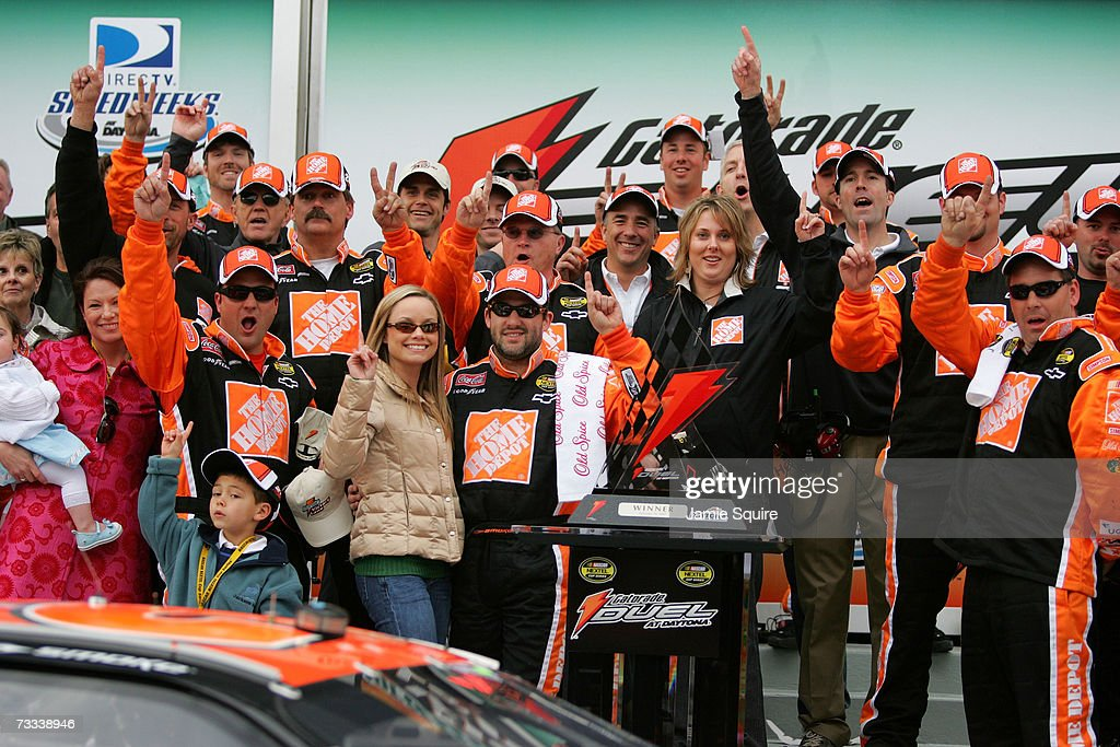 Tony Stewart Driver Of The The Home Depot Chevrolet Girlfriend
