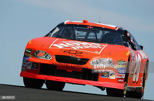 Tony Stewart drives his Home Depot Chevrolet to victory during the NASCAR Nextel Cup DodgeSavemart 350 on June 26 2005 at Infineon Raceway in Sonoma...