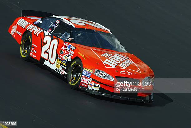 Tony Stewart drives his Joe Gibbs Racing Home Depot Chevrolet during the practice for NASCAR Winston Cup Food City 500 at the Bristol Motor Speedway...