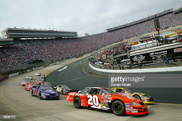Tony Stewart drives his Joe Gibbs Racing Home Depot Chevrolet during the NASCAR Winston Cup Food City 500 at Bristol Motor Speedway on March 23 2003...