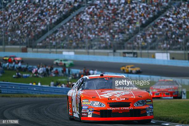 Tony Stewart drives the Gibbs Racing Home Depot Chevrolet during the NASCAR Nextel Cup Series Sirius at the Glen on August 15, 2004 at Watkins Glen...