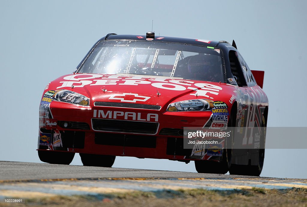Tony Stewart Drives The #14 Office Depot Chevrolet During Practice For The  NASCAR Sprint Cup