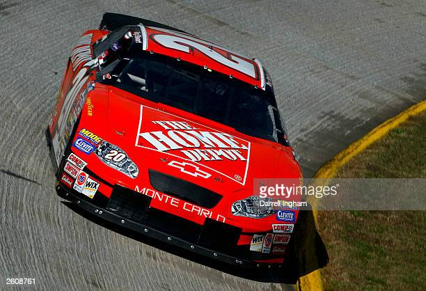 Tony Stewart driving the Joe Gibbs Racing Home Depot Chevrolet during practice for the NASCAR Winston Cup Subway 500 at the Martinsville Speedway on...