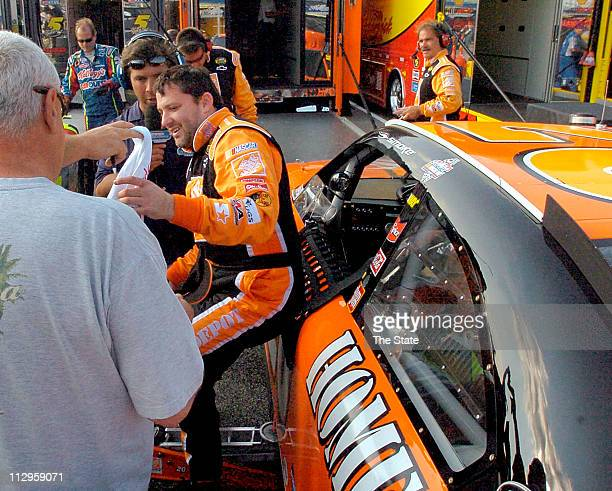 Tony Stewart was happy with his sixth place finish after he fell back to 31st during the middle of the Dodge Avenger 500 at Darlington Raceway in...