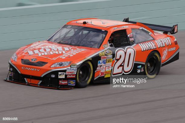 Tony Stewrat driver of the Home Depot Toyota during practice for the NASCAR Sprint Cup Series Ford 400 at HomesteadMiami Speedway on November 14 2008...