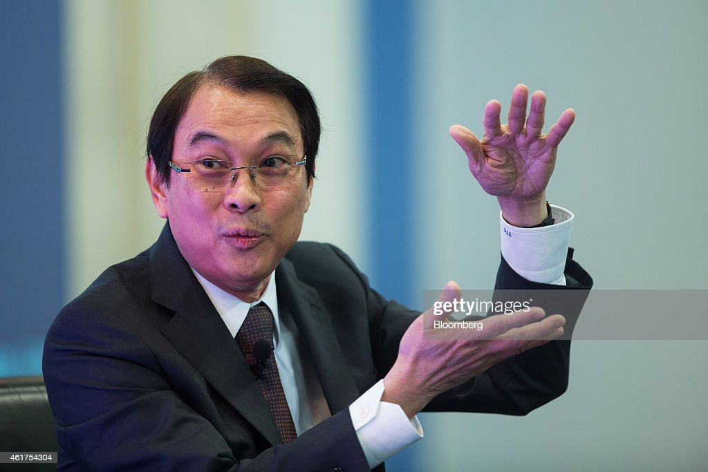 Tony Tan Caktiong, chairman of Jollibee Foods Corp., gestures as he speaks during the Hong Kong Asian Financial Forum (AFF) in Hong Kong, China, on Monday, Jan. 19, 2015. The Asian Financial Forum runs through Jan. 20. Photographer: Jerome Favre/Bloomberg via Getty Images