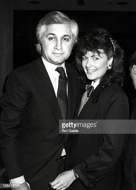 Tony Thomopoulos And Christina Ferrare during Light Up The Sky Los Angeles Opening Night at Ahmanson Theater in Los Angeles California United States
