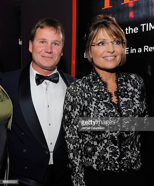 Tony Travis and Sarah Palin attend Time's 100 most influential people in the world gala at Frederick P Rose Hall Jazz at Lincoln Center on May 4 2010...