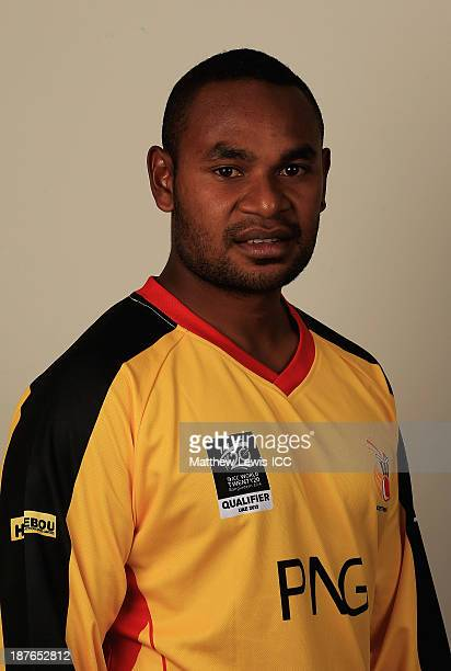 Tony Ura of Papua New Guinea pictured during a headshot session ahead of the ICC World Twenty20 Qualifiers on November 11 2013 in Dubai United Arab...