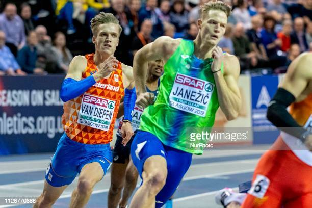 Tony van DIEPEN NED competing in the 400m Men Final event during day TWO of the European Athletics Indoor Championships 2019 at Emirates Arena in...
