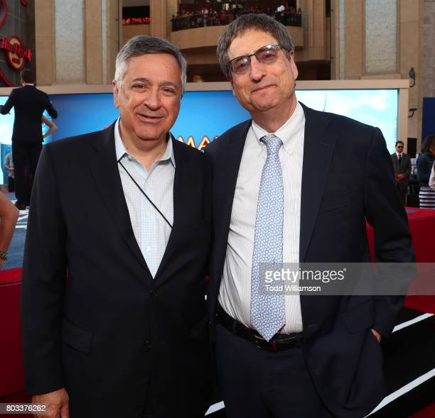 Tony Vinciquerra Chairman and CEO Sony Pictures Entertainment and President of Marvel Studios and Tom Rothman Chairman Sony Pictures Motion Picture...