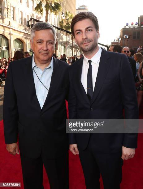 Tony Vinciquerra Chairman and CEO Sony Pictures Entertainment and Director/Screenwriter Jon Watts attend the premiere of Columbia Pictures'...