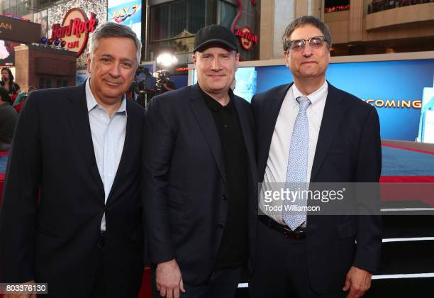 Tony Vinciquerra Chairman and CEO Sony Pictures Entertainment Executive Producer Kevin Feige President of Marvel Studios and Tom Rothman Chairman...