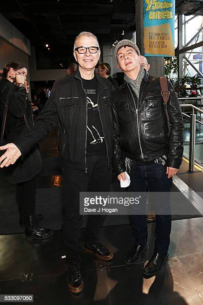 """Tony Visconti and Marc Almond attend a special screening of the motion picture """"Born to Boogie"""" to celebrate the films release on blu-ray at BFI..."""
