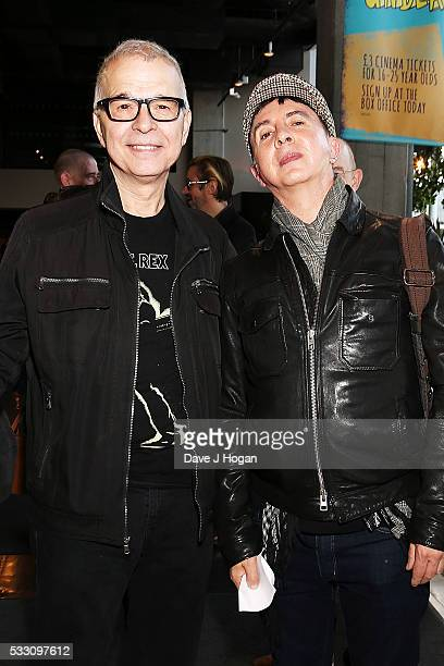 Tony Visconti and Marc Almond attend a special screening of the motion picture 'Born to Boogie' to celebrate the films release on bluray at BFI...