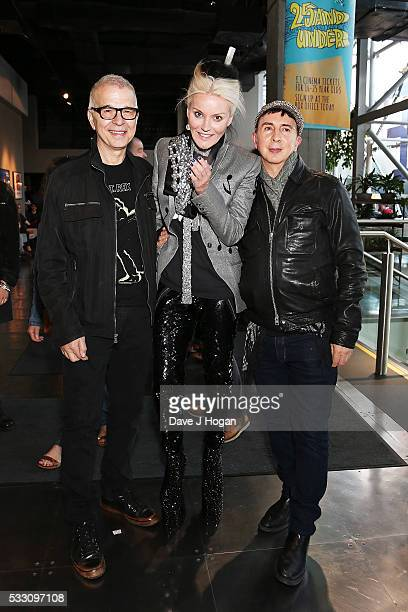 Tony Visconti Daphne Guinness and Marc Almond attend a special screening of the motion picture 'Born to Boogie' to celebrate the films release on...