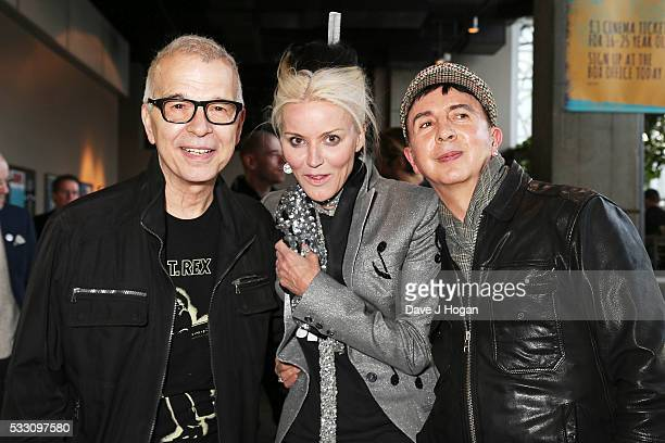 """Tony Visconti, Daphne Guinness and Marc Almond attend a special screening of the motion picture """"Born to Boogie"""" to celebrate the films release on..."""