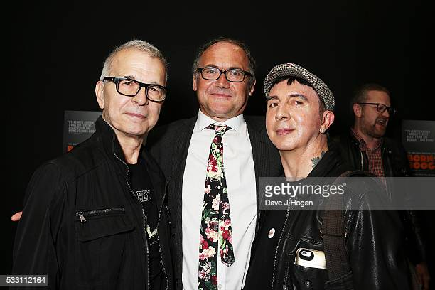 Tony Visconti Mark Paytress and Marc Almond attend a special screening of the motion picture 'Born to Boogie' to celebrate the films release on...