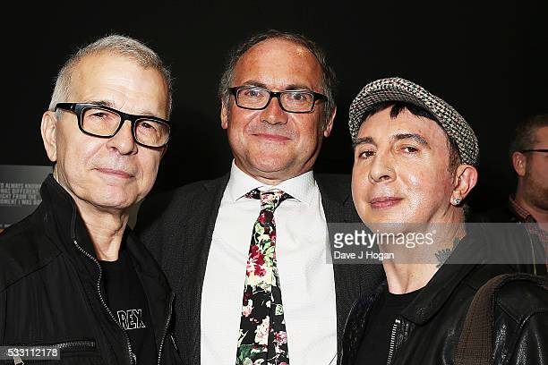 """Tony Visconti, Mark Paytress and Marc Almond attend a special screening of the motion picture """"Born to Boogie"""" to celebrate the films release on..."""