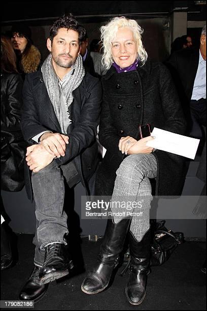 Tony Ward, Ellen Von Unwerth at The Dior Fashion Show Introducing The Menswear Autumn Winter 2011 / 2012 At Tennis Club De Paris In Paris.