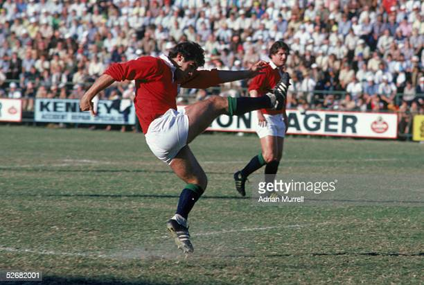 Tony Ward of the Lions kicks at goal during the test series between South Africa and the British and Irish Lions in South Africa in 1980