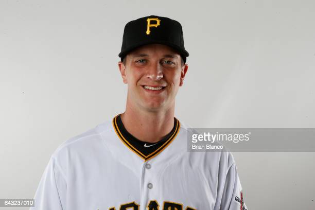 Tony Watson of the Pittsburgh Pirates poses for a photograph during MLB spring training photo day on February 19 2017 at Pirate City in Bradenton...