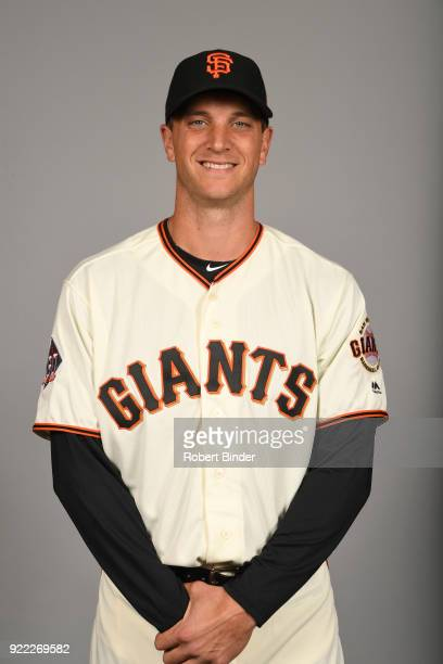 Tony Watson of the San Francisco Giants poses during Photo Day on Tuesday February 20 2018 at Scottsdale Stadium in Scottsdale Arizona