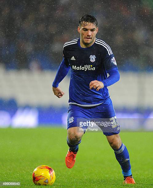 Tony Watt of Cardiff City during the Sky Bet Championship match between Cardiff City and Burnley at the Cardiff City Stadium on November 28 2015 in...
