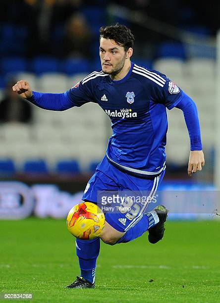 Tony Watt of Cardiff City during the Sky Bet Championship match between Cardiff City and Nottingham Forest at the Cardiff City Stadium on December 29...