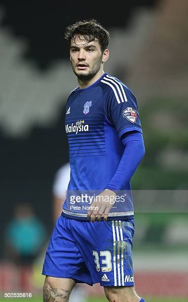 Tony Watt of Cardiff City in action during the Sky Bet Championship match between Milton Keynes Dons and Cardiff City at stadiummk on December 26...